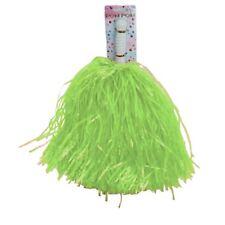 Green High School Cheerleader PomPoms Cheer Leader Costume Accessory
