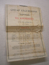 EARLY, 1927 L.N.E.R (LNER) CHEAP EXCURSIONS FROM DEESIDE TO ABERDEEN LEAFLET