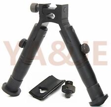 "5.1"" Tactical Rifle Bipod Hunting Picatinny Rail Foldable Rubber Feet"