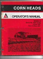 Original Allis Chalmers Operators Manual for Model N Corn Heads S/N 3001 and Up