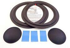 "Realistic Mach One 15"" Woofer Foam Speaker Repair Kit w/ Shims & Dust Caps!"