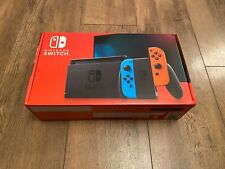 EMPTY BOX Only - Nintendo Switch - Neon Red and Blue - NEW!