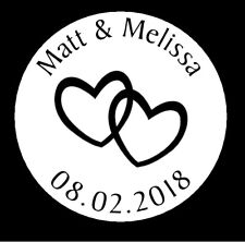 Personalised Wedding Heart Favours Stickers Labels Envelope Seals