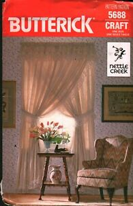 5688 Vintage Butterick SEWING Pattern Window Treatments Criss Cross Priscillas