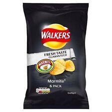 Walkers Marmite patatine fritte 6 x 25g-venduta in tutto il mondo dal Regno Unito