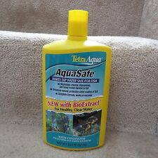 Tetra AquaSafe with BioExtract - Makes Tap Water Safe for Fish - 33.8 fl oz