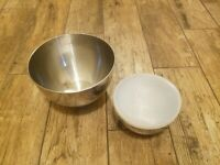 Revere Ware Stainless Steel Nesting Mixing Bowls D-Ring Set of 2 Korea
