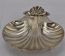 PRE-OWNED SILVER PLATE COPY OF A SHEFFIELD DESIGN SHELL FOOTED CATCH-ALL DISH
