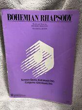 Bohemian Rhapsody Vintage 1975 Guitar Rare Tab Sheet Music Song Book
