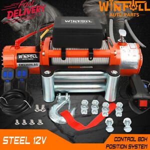 ELECTRIC WINCH 12V 4x4 13500lb WINFULL BRAND - RECOVERY- OFF ROAD - WIRELESS