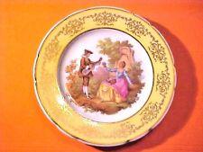 """Vintage Limoges France Veritable Porcelaine 7.25"""" Plate Gilded Gold Accents M573"""