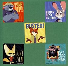 10 Zootopia Large Stickers - Chief Bogo,Judy Hopps, Nick Wilde, Finnick, Mr Big