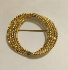 Vintage HSB Harry S Bick 1/20th 12K Gold Filled Brooch Pin A Swirl of 5 Rings