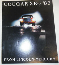 Cougar XR-7 Magazine Lincoln Mercury 1982 122614R