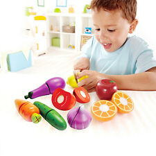 Kids Children Fruit Food Vegetable Learning Cutting Set for Kitchen Pretend Game