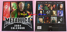 CALENDARIO CALENDAR METALLICA 2004 no cd dvd lp mc tour live