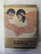 BANTI IL MONDO DEGLI ETRUSCHI BIBLIOTECA DI STORIA PATRIA 1969