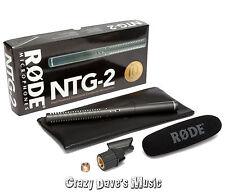 NEW Rode NTG-2 Multi-Powered Condenser Shotgun Microphone Video Mic NTG2