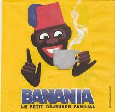 2 Serviettes en papier Reproduction Publicitaire Banania Morvan  Paper Napkins