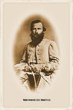 Confederate States of America Major General JEB Stuart Civil War Fine Art Print