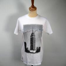 River Island T Shirt-blanco con Manhattan Ciudad de Nueva York-Tamaño Pequeño