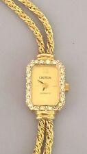 Estate Vintage 14K Yellow Gold with Diamonds Women's Croton Watch Octagon shape