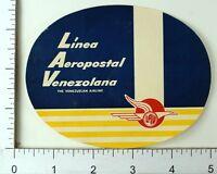 1940's-50's Linea Aeropostal Venezolana LAV Luggage Label Poster Stamp E10