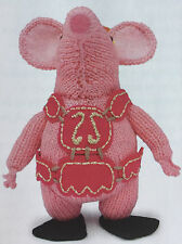 KNITTING PATTERN Tiny Clangers Childrens Character Toy CBeebies 14.5cm Clangers