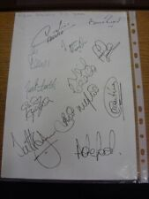 2001 Autographed A4 Page: Wigan Athletic - Approx 13 Signatures Upon A Plain Whi