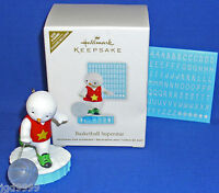Hallmark Ornament Basketball Superstar 2011 Snowman Can Be Personalized NIB