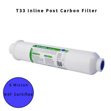 """2x10""""Inline Post Carbon Water Filter 5μm Reverse Osmosis System Refrigerator NSF"""
