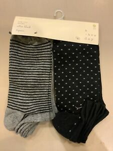 Women's Socks by A New Day 6 Pairs Low Cut Size 4-10 Cotton blend