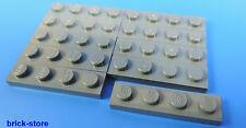 LEGO nr-4211001/1x4 placa gris oscuro / 10-pc