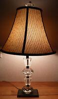 "Vintage Mid Century Modern Table Lamp Lucite & Brass 28"" Tall $50.00 OFF BIN"