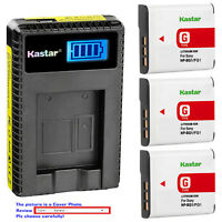 Kastar Battery LCD Charger for Sony NP-BG1 NPBG1 & Cyber-shot DSC-T100 Camera