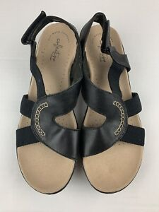 Collections by Clark Ultimate Comfort Gladiator Sandals Black Women's Size 10