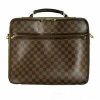 Louis Vuitton Damier Ebene Porte Ordinateur Sabana Business Hand Bag N58020 Used