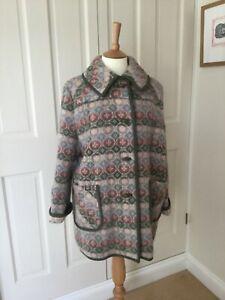 Rare Welsh Wool Tapestry Vintage Coat Trefriw Woollen Mills Ltd
