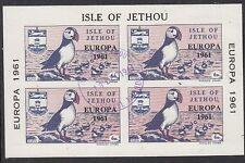 JETHOU (Channel Islands):1961 EUROPA overprint M/Sheet- AITCH J14L fine used