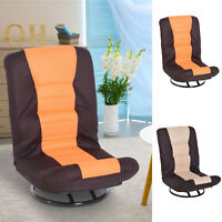 360 Degree Swivel Game Chair Folding Floor Sofa Couch 5-Position Adjustable