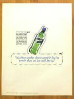 1999 Vintage Sprite ZOMBIE BRAINS Cut-Out Print Ad/Poster Official Coca Cola Art
