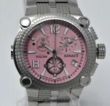 New Mens Renato Vulcan  Pink Dial 46mm Swiss Chronograph Watch Limited to 35