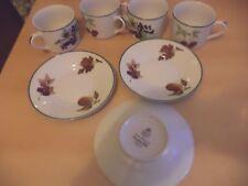 4 x ROYAL WORCESTER evesham vale OLD VINTAGE cups & saucers tea set service