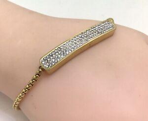 Monika Vinader Gold Plated Silver CZ Baja Bracelet, Adjustable