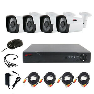 Anspo 4CH 960P AHD Home Security Camera System Waterproof Night Vision DVR CCTV