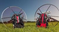 Adventure Pluma With Dual Start Moster 185 Carbon Fiber Powered Paraglider