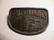 RALEIGH LIGHTS CIGARETTE SMOKER TRACTOR TRAILER MENS BRASS METAL BELT BUCKLE #2