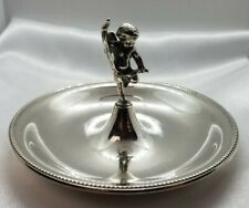 TIFFANY & CO JEWELRY HOLDER DRESSER TRAY STERLING SILVER CUPID
