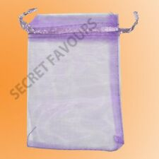 Organza Bags - Wedding Favours   Jewellery Pouch   Gift Bag 25/50/100 16 colours