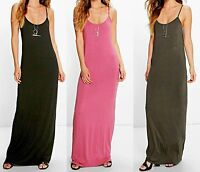 Womens Ladies Boohoo Style Casual Long Sleeveless Racer Back Maxi Dress G-1009